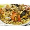 Spaghettis aux petits légumes verts