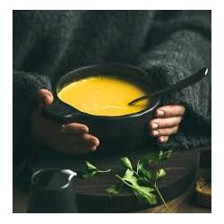 Soupe de légumes au fromage frais